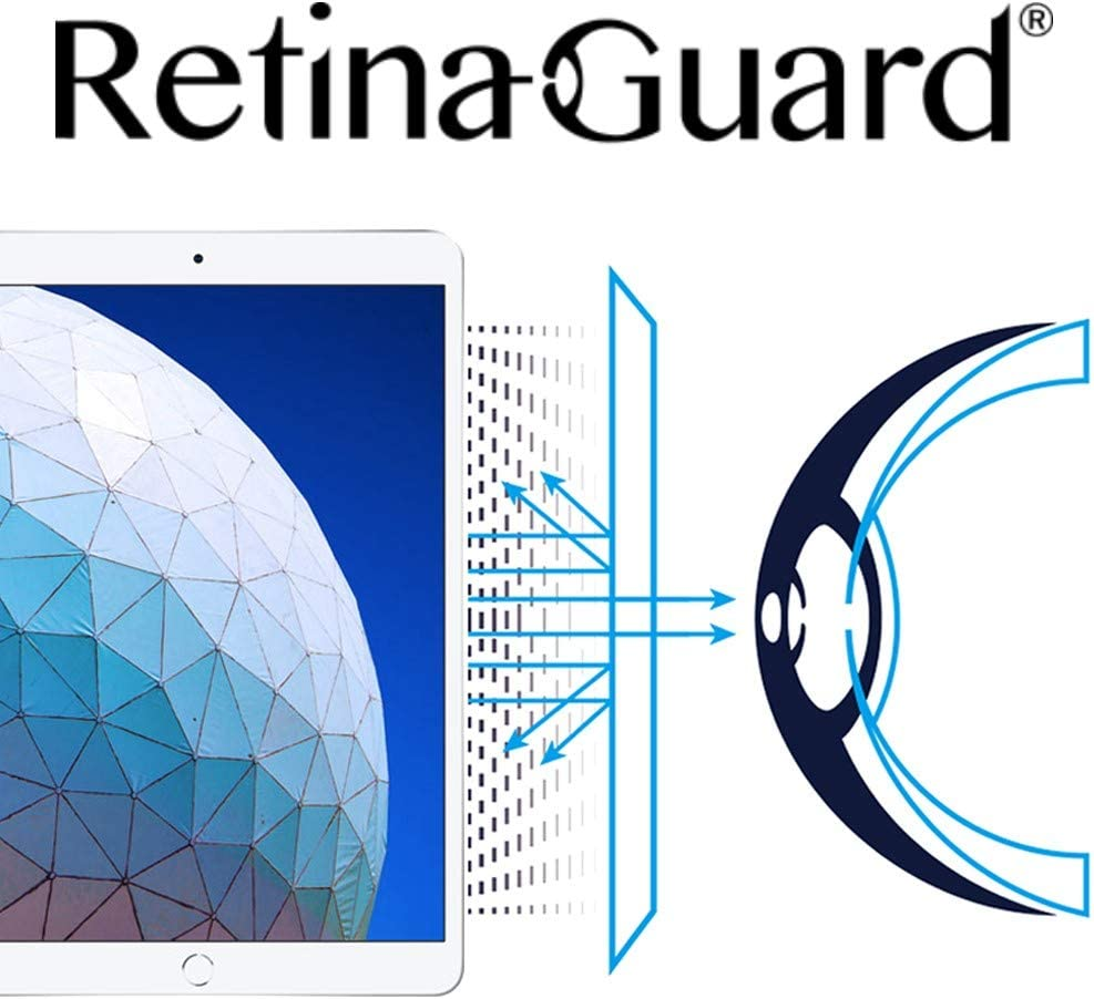 RetinaGuard iPad Pro 10.5 Inch Anti Blue Light Screen Protector (Transparent), SGS and Intertek Tested, Blocks Excessive Harmful Blue Light, Reduce Eye Fatigue and Eye Strain