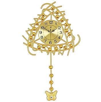 Wmshpeds Salón Relojes de pared Grandes Ideas modernas decoradas con estilo simple silencio colgando el cuadro reloj reloj de cuarzo: Amazon.es: Hogar