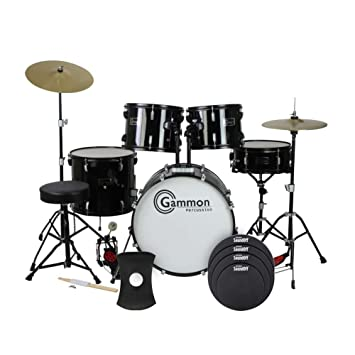 Amazon Com Gammon Full Size Adult 5 Piece Drum Set With Cymbals