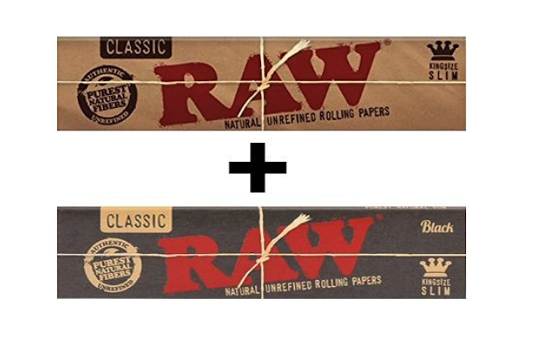 RAW Kingsize Slim Classic + RAW BLACK Kingsize Slim Classic Papers Dabble Dabs