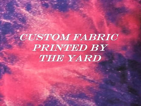 Amazon Com Custom Printed Fabric By The Yard Create Your Own