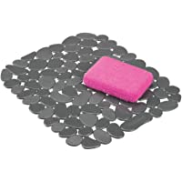 mDesign Tapete de PVC Recortable para Fregadero –