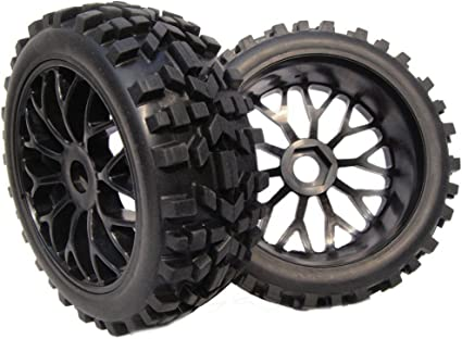 2pcs New 1:8 RC Paddles Tires Hex 17mm Wheel for Snow Sand Baja Buggy Master Car