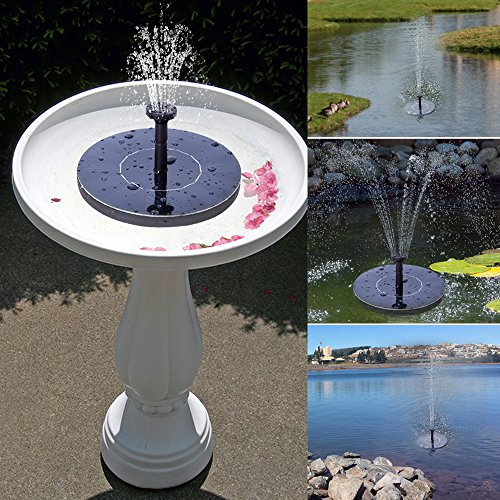 solar fountain hiluckey 1 4w solar pump bird bath fountain self powered for garden and patio. Black Bedroom Furniture Sets. Home Design Ideas