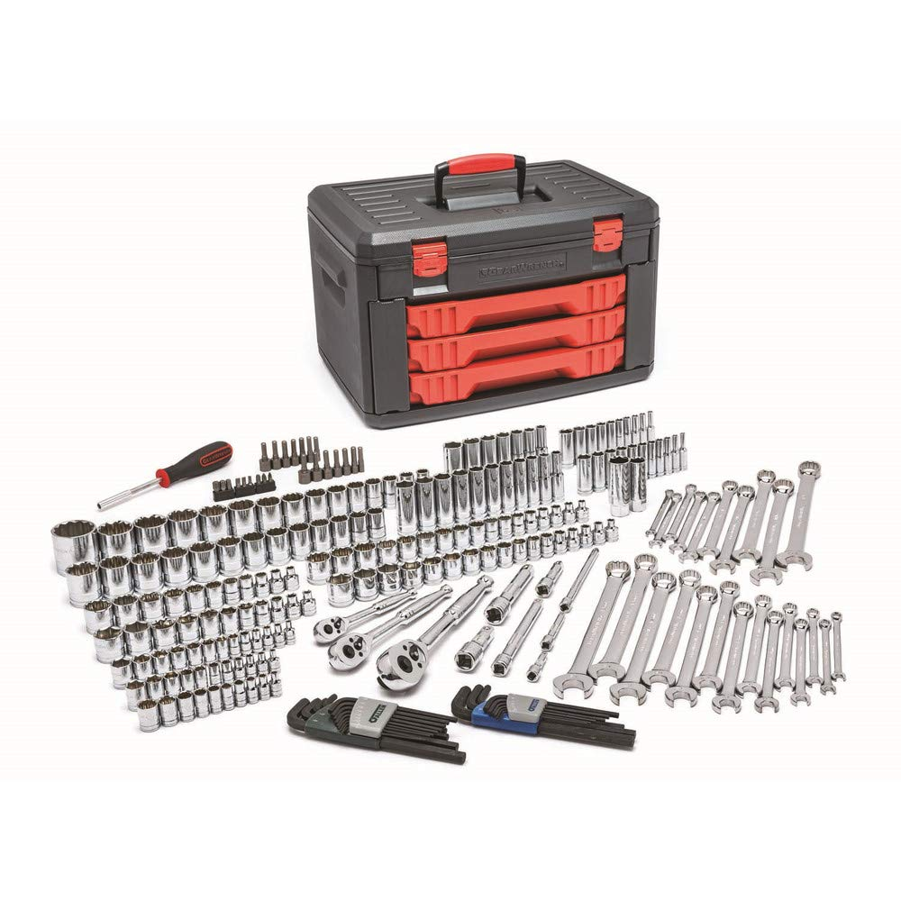 GEARWRENCH 239 Pc. Mechanics Tool Set In 3 Drawer Storage Box - 80942 by GearWrench