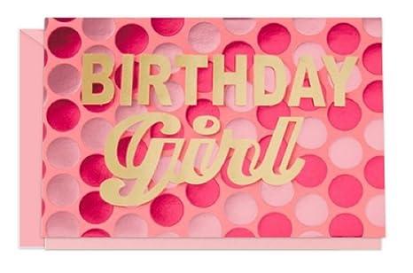 Amazon.com: Cumpleaños de niña – Tarjeta de felicitación w ...