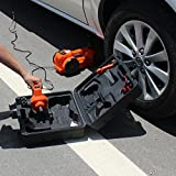 12V DC 1 Ton Electric Hydraulic Floor Jack Set with Impact Wrench For Car Use (6.1-17.1 inch, Orange)