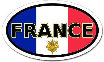 France Francia En Inglés Calcomanía Pegatina Bandera Y Emblema De