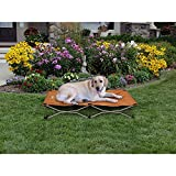 1 Piece Tan Large 48 Inches Indoor Outdoor Cooling Elevated Folding Pet Bed - Brown Color Raised Dog Bedding Cot Comfortable Water Resistant Lightweight - Portable Travel Kennels Camping - Canvas Steel