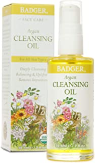 product image for Badger - Face Cleansing Oil, Argan, Certified Organic Face Oil Cleanser, Argan Facial Cleanser Oil, Natural Facial Cleansing Oil, Natural Oil Cleanser for Face, Argan Face Cleanser Oil, 2 oz