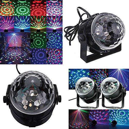HOWSAN 3W Mini RGB LED Disco Lichteffekt Bühnenbeleuchtung Kristalleffekt Lampe Projektor für Party Club DJ Ballroom