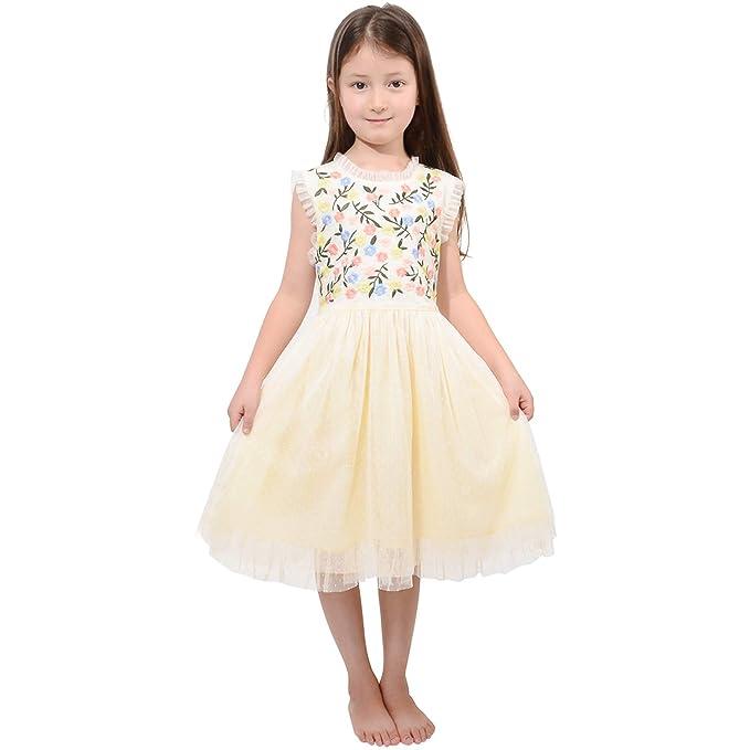 Amazon.com: Vestido de princesa con falda de encaje bordada ...