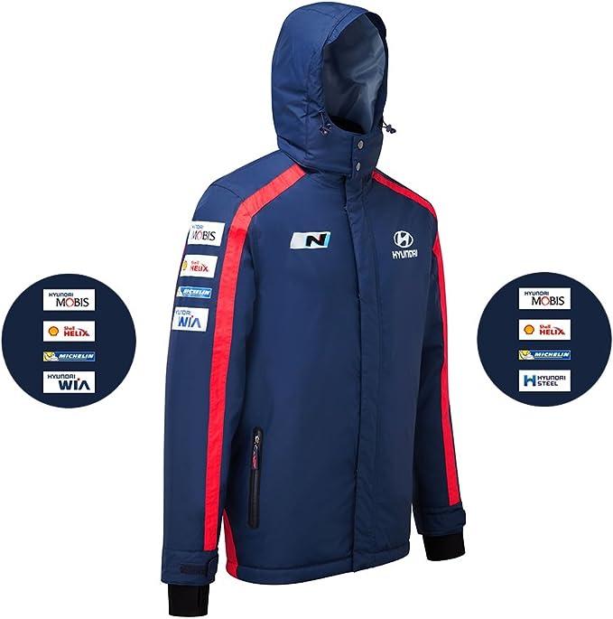 Hyundai Motorsport Team Replica Heavyweight Jacket Wrc Blue Winter Coat Bekleidung