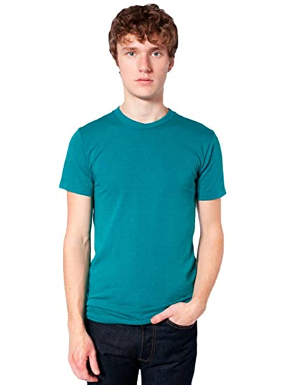 72b206d536 American Apparel Unisex Tri-Blend Short Sleeve Track Shirt, Tri-Evergreen, X