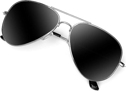 UV 400 Protection Military Style Classic Aviator Sunglasses for Men Women