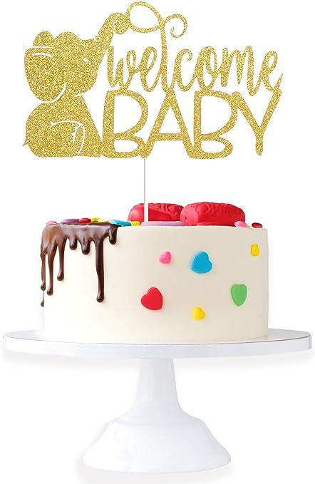 gender reveal Baby Elephant cake topper elephant themed baby shower baby shower cake topper oh baby
