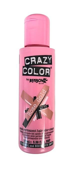 Amazon Com Crazy Color Hair Dye 100ml Rose Gold Beauty