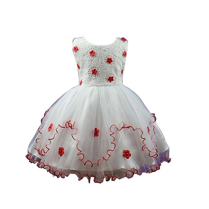 Amur Leopard Vestido de Fiesta para Niña con Volante de Tul Encaje floral Vestido Elegante con