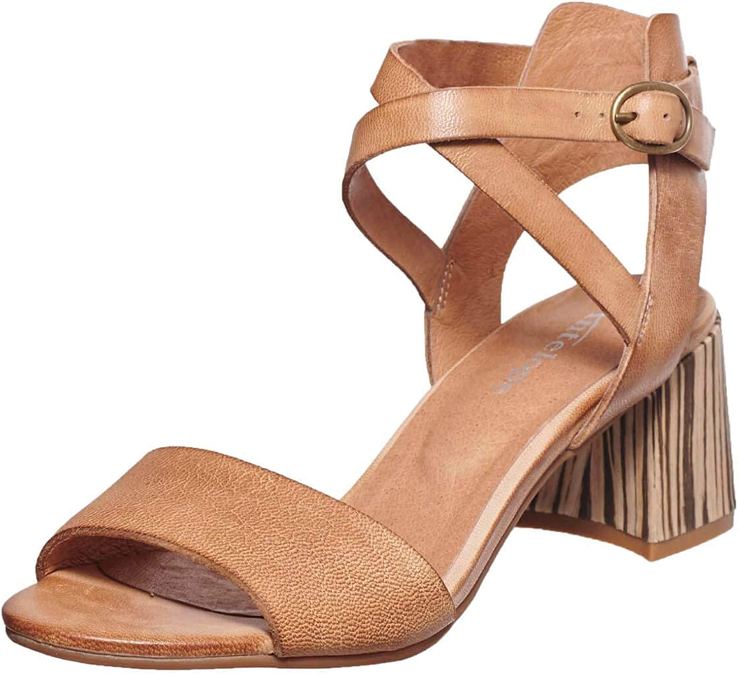 Max 75% OFF Antelope Women's 514 Leather Ankle Regular dealer Wrap Wood Sand Heeled African