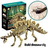 Gbell Dinosaur Digging Fossil Kit, Dinosaur Fossils Excavation Dino Skull Bones Dig Up Kit...
