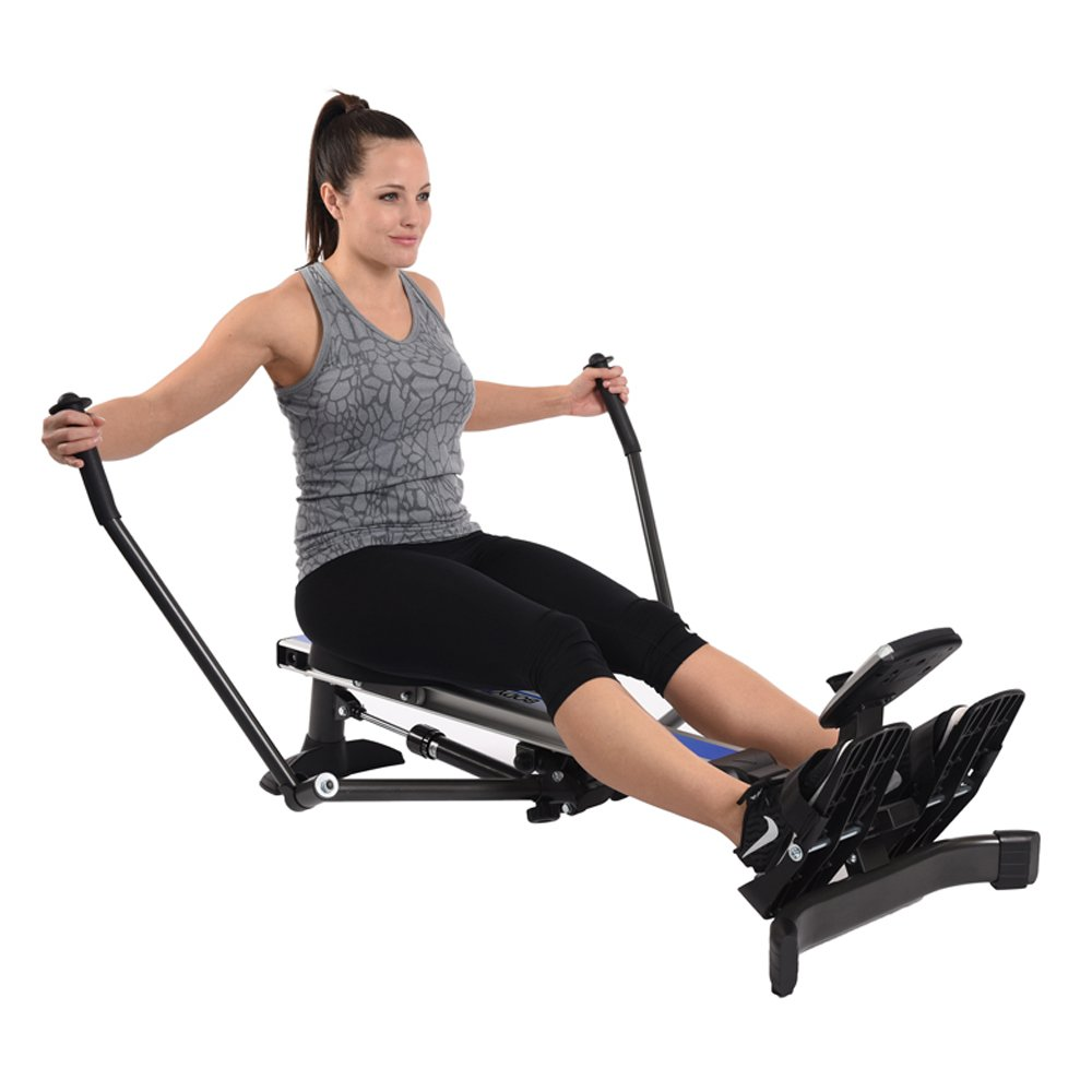 Stamina Products BodyTrac Glider 1060 Hydraulic Resistance Fitness Rower Machine, Blue by Stamina (Image #3)