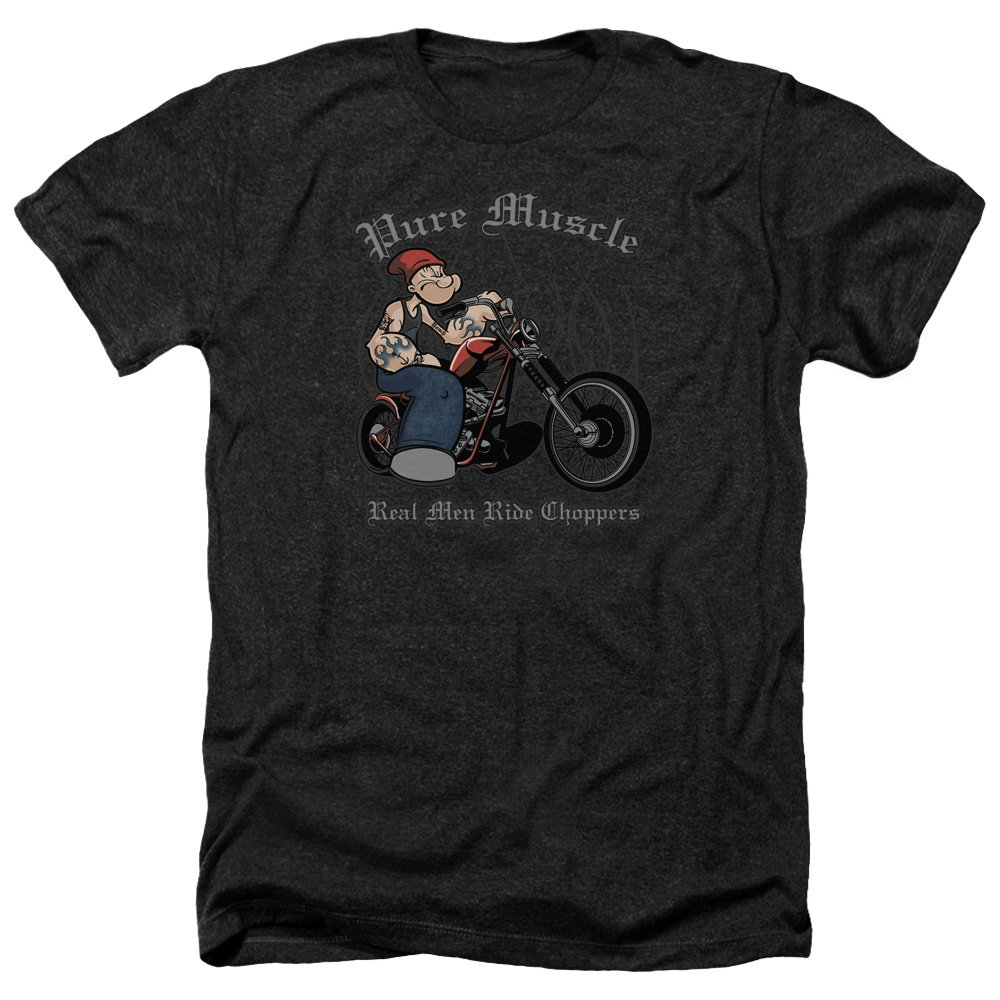Popeye Pure Muscle S Heather Shirt Black Sm
