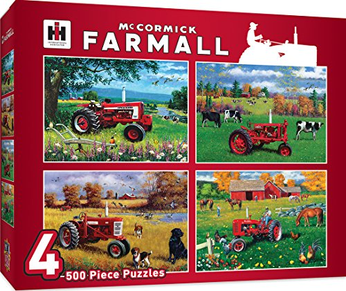 (MasterPieces Multi Pack McCormick Farmall Jigsaw Puzzle, Tractors, 4-Pack, 500 Pieces )
