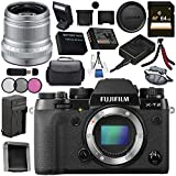 Fujifilm X-T2 Mirrorless Digital Camera (Body Only) 16519247 + Fujifilm XF 50mm f/2 R WR Lens (Silver) 16536623 Bundle