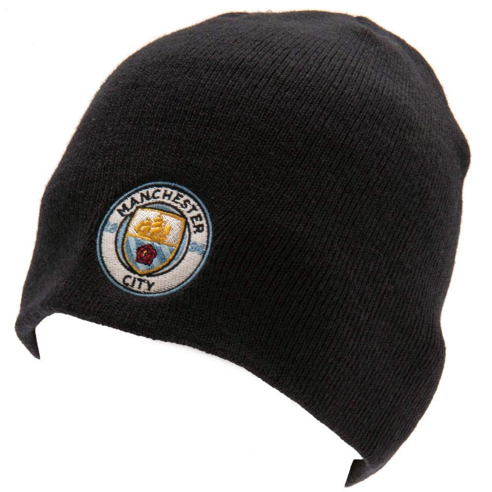 e9bb732cbf5 Amazon.com   Manchester City FC Beanie Knitted Hat Navy - Official ...