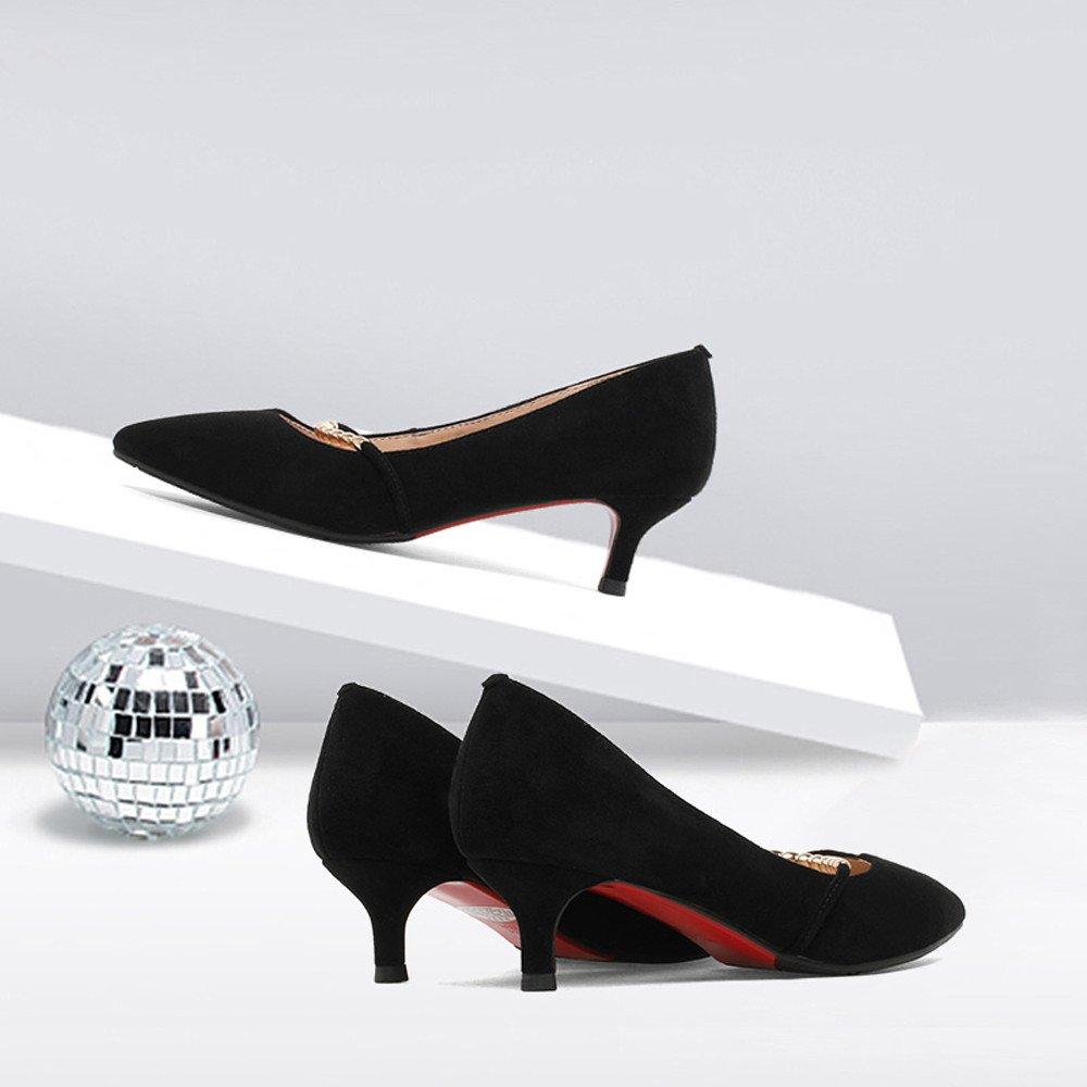 XZGC Wies Wildleder Cat Schuhe Schwarz mit Mode Schuhe Schwarz Schuhe 4bcd0c