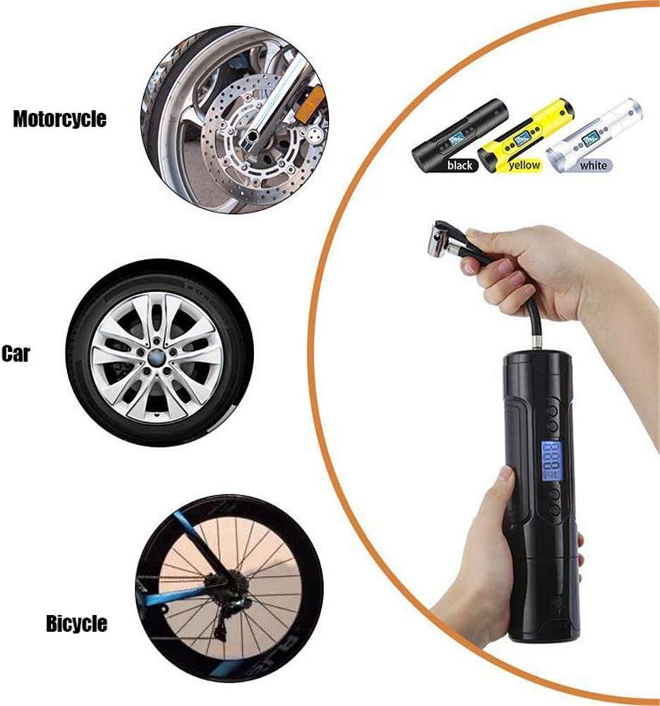 Maximale F/ülldruck 150PSI A 12V elektronische Auto-Luftpumpe mit 3000MAH Herausnehmbare Batterie tragbaren Mini-Gummireifen-Pumpen f/ür Auto-Fahrrad-Motorrad Luftmatratzen