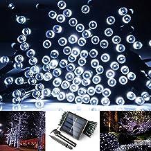 200led Solar String Lights, SUPTMAX Solar Lights Garden 72ft 200LED 8 Modes Solar Fairy Lights Waterproof Outdoor Lights for Gardens, Homes, Wedding, Party, Christmas Lights (200LED, Cool White)