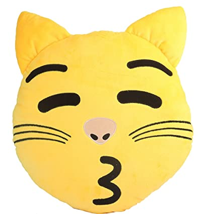 Amazon.com: Cute Emoji Cushion Emoticon Kitty Cat Doll Toy ...