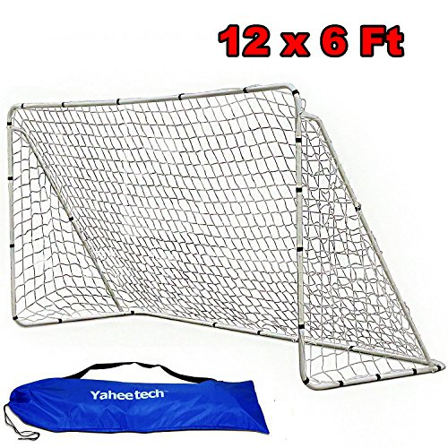 Yaheetech 12' x 6' Professional Soccer Goal with Net and Carry bag (Soccer Professional Net)