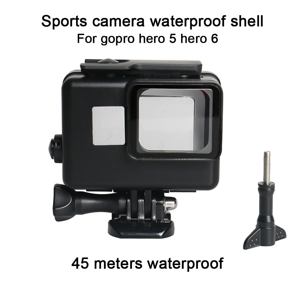 Duoying Action Camera Waterproof Case Protective Housing Underwater Shell Water Resistant Up To 147Ft (45m) Sport Camera Case For Go-Pro Hero5/6