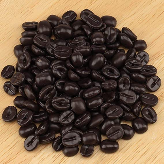 30pcs Faux Coffee Beans Resin Decor Cabs Dome DIY Flatback Accessories Crafts