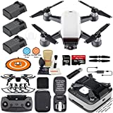 DJI Spark Drone Quadcopter (Alpine White) Elite Bundle with Remote Controller, Portable Charging Station, 3 Batteries, Charging Station Bag and Must Have Accessories For Sale