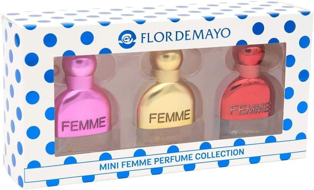 Flor de Mayo, Estuche Regalo Femme Collection - Gold Passion para mujeres - 3x20 ml.: Amazon.es: Belleza