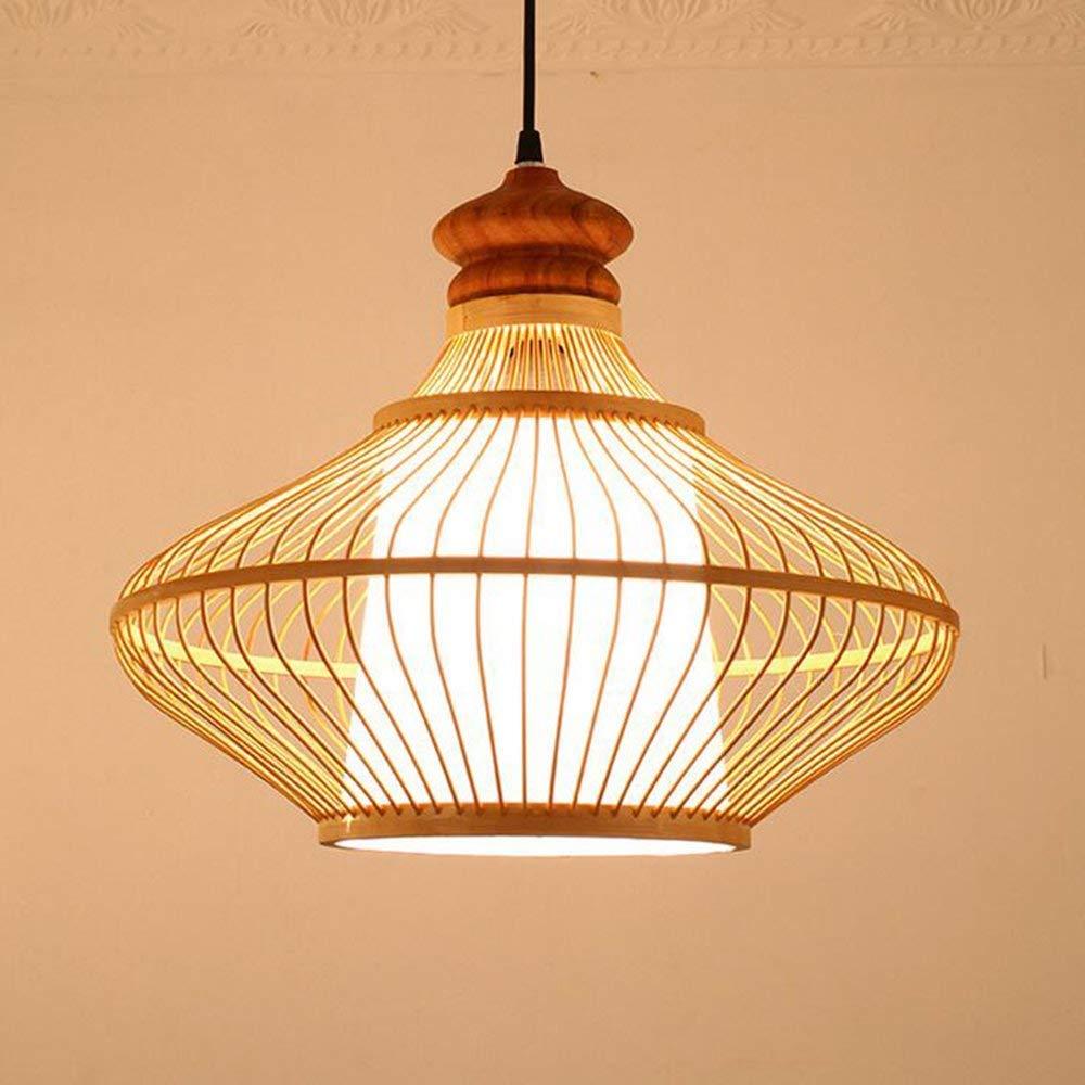 4032cm RANR Lustre tissé à la Main en Bambou Lustre Salle à Manger Salon Salle d'étude Lampes,40  32cm