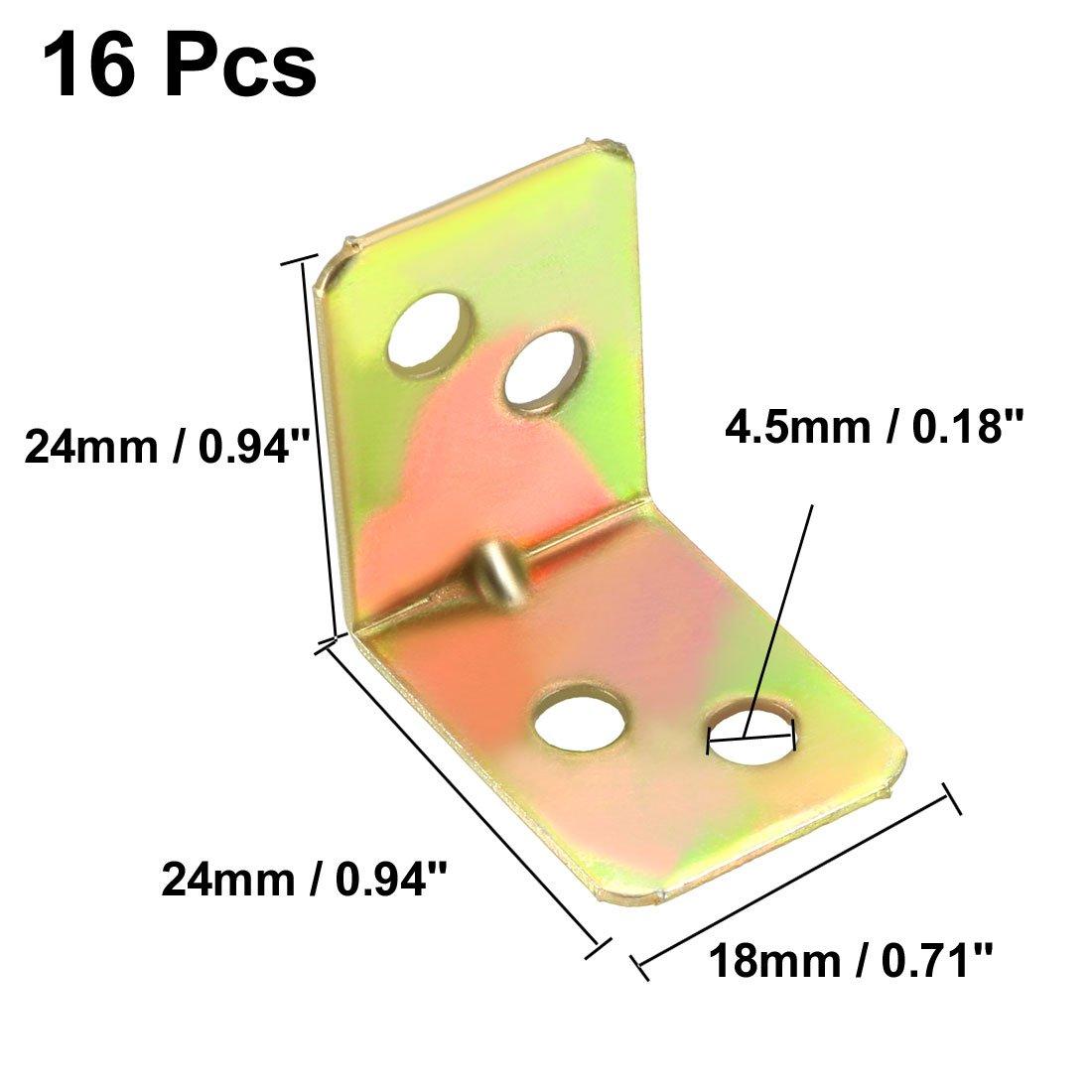 sourcing map Equerre renfort angle fer Att AChe forme L 20mmx20mmx29mm ronde fin 10pcs