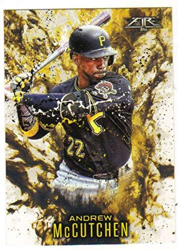 2016 Topps Update Series Baseball Topps Fire Insert #13 Andrew McCutchen Pirates