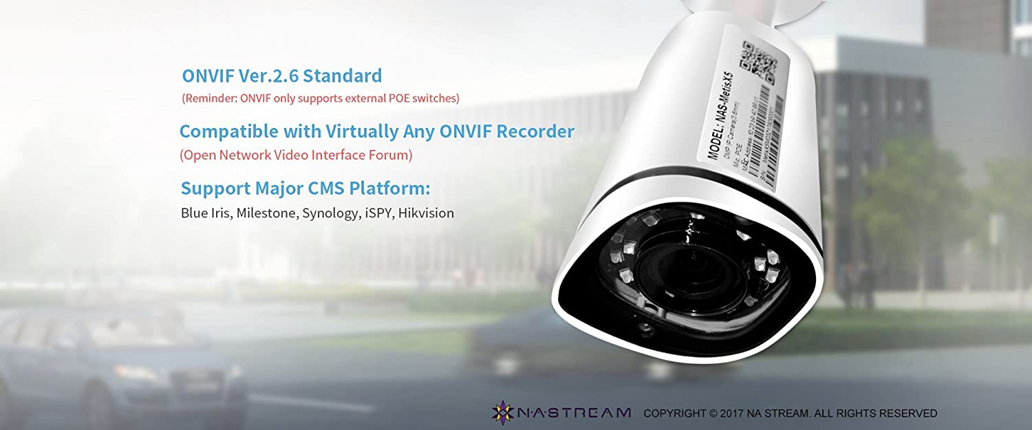 Na Stream Ip Camera 5 Megapixels Wdr Poe Bullet Nas Setup Wired Network Diagram Security Sony Sensor Fixed Wide Angle Lens Waterproof Surveillance Motion