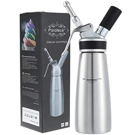 Amazon.com: Dispensador de crema batida de acero inoxidable ...