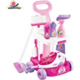Amazon Com Casdon Hetty Cleaning Trolley Pink And Black