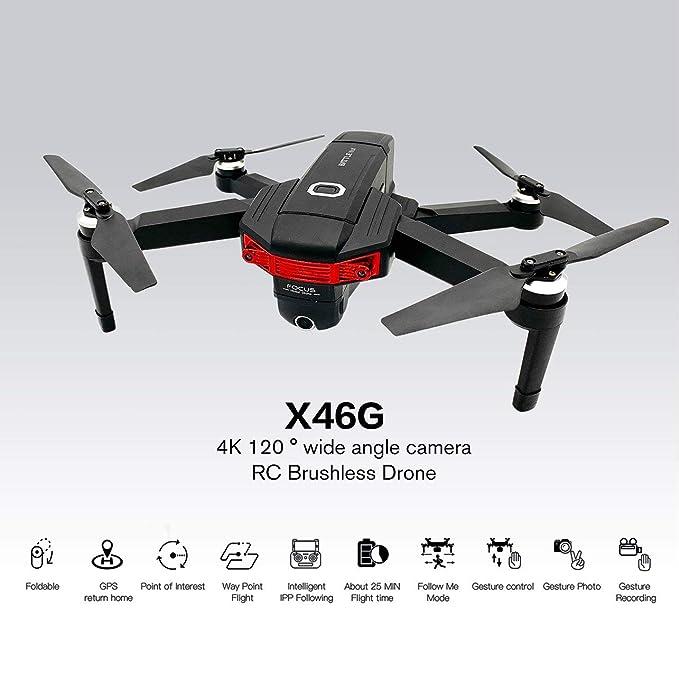 WOSOSYEYO X46G Plegable RC Drone Motor sin escobillas Drone WiFi ...