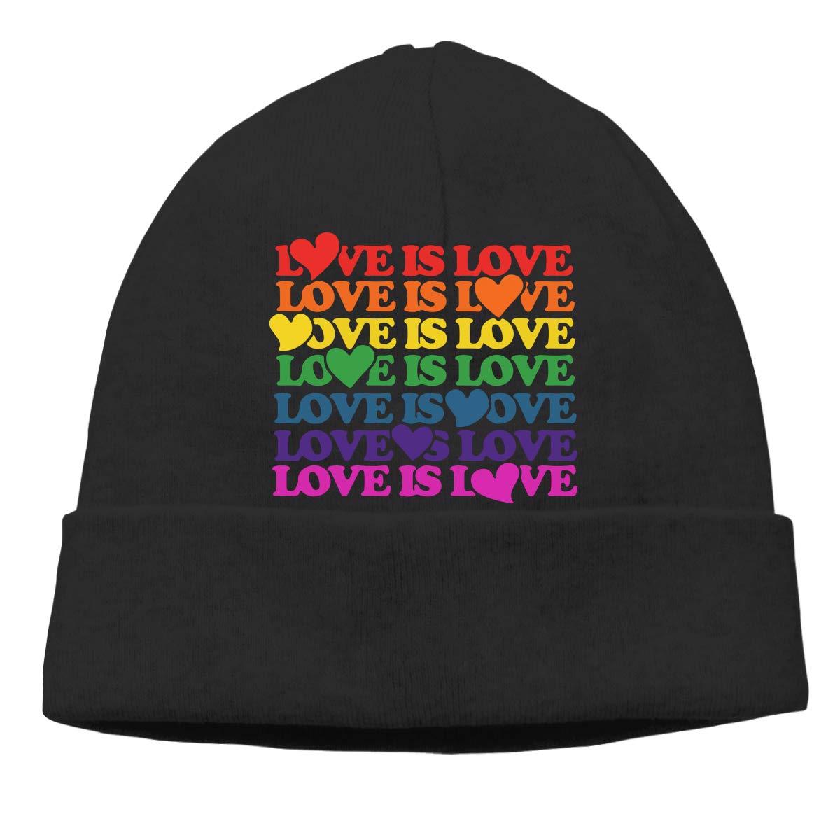 Men /& Women Love is Love Rainbow Outdoor Fashion Beanies Hat Soft Winter Knit Caps