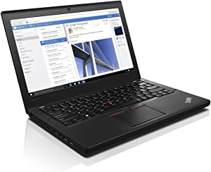 Lenovo ThinkPad X260 12.5 Inch Laptop PC, Intel Core i5-6200U up to 2.8GHz, 8G DDR4, 256G SSD, HDMI, Mini DP, Windows 10 Pro 64 Bit Multi-Language Support English/French/Spanish(Renewed)