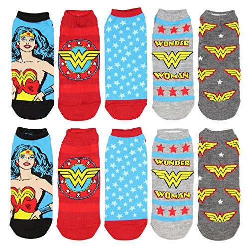 DC Comics Wonder Woman Mix N' Match No-Show Ankle Socks 5 Pack from DC Comics