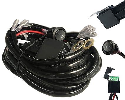 amazon com autosonic led wiring harness 2 lead heavy duty for ledautosonic led wiring harness 2 lead heavy duty for led light bar work light, 12v