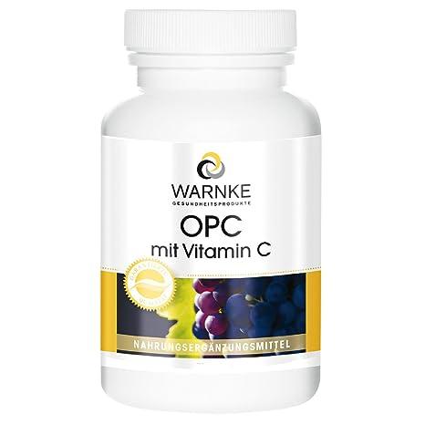 OPC con vitamina C – 60mg de OPC de 200mg de extracto de pieles de uva
